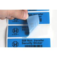 Dark Object Non Residue Security Labels / Anti Tampering Tape Full Color