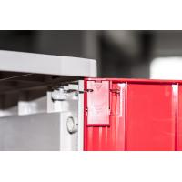 China Corrosion Proof ABS Plastic Lockers Red Door 5 Tier Lockers With Clover Keyless Lock wholesale