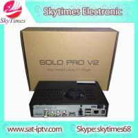 China solo pro HD digi satellite receiver tv box BCM7358 DVB-S2 tuner Enigma 2 Linux PVR sharing on sale