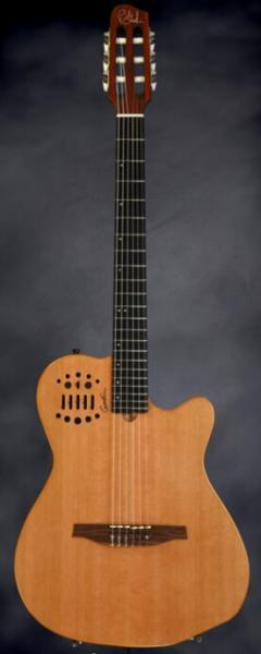 godin_acrylic lacquer godin nylon string acoustic guitar acs-sa slim