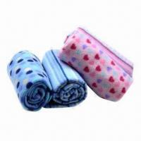 China Promotion baby printed polar fleece blankets wholesale
