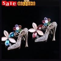 China Colorful Heel Shoes Brooches Women Weddings Jewelry Broches, Collar Hijab Islam Pin Up wholesale