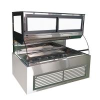 China Stainless Steel Bakery Glass Showcase , Display Refrigerated Cabinet For Supermarkets on sale