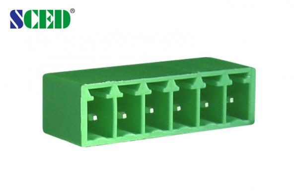 Quality Right Angle Plug In PCB Mount Terminal Blocks 300V 8A 2 Poles - 22 Poles for sale
