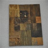 China Decorative 3d Solid Wood Wall Paneling , Artificial Carved Wood Wall Panel on sale