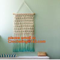 China Macrame Wall Art Hanging, Tapestry Wedding Decoration, Bunting Banner knitted, crochet wedding bunting wholesale