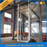 China 1.5 tons 5 m Hydraulic Outside Guide Rail Vertical Cargo Lift for Building Warehouse on sale