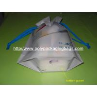 China Personalized CPE / LDPE Drawstring Plastic Bags For Girls Underwear / Bra / Bikini / Vest on sale