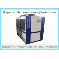 China 109kw 30 Ton Air Cooled Scroll type Refrigeration Water Chiller with Internal Tank and Water Pump wholesale