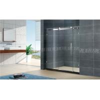 China 1400x2000MM Big Roller Glass Shower Screen 8MM Two Fixed For Apartment wholesale