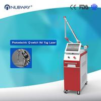 2016 hottest! ND Yag laser tattoo removal, skin rejuvenation salon beauty equipment with long pulse 1064 and 532nnm
