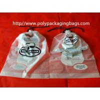 China Garment / Pillow Packaging Poly Bag Clear Drawstring Plastic Bags wholesale