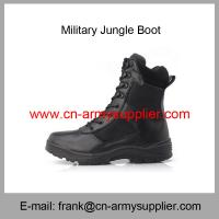 Wholesale Cheap China Black Leather Canvas Police Duty Jungle Tactical Boot