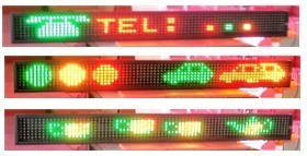 Quality P7.62 LED Moving Sign Scrolling Display with remote control F7120 Series for sale