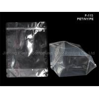 China Stand Up Food Packaging Plastic Bags With Zip Lock Tear Nouch on sale