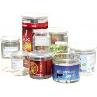 China 500ml ODM Labeling Clear Plastic Cylinder Food Grade Canned Tubes on sale