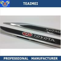 China Customized Colorful Metal TOYATA Car Chrome Badge Car Side Body Stickers wholesale