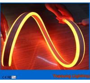 China Topsung lighting 12v orange 100m mini double sided led neon rope strip waterproof 8.5*18mm light wholesale