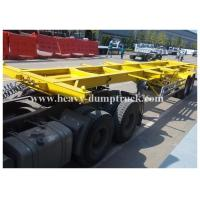China Container chassis trailer , skeleton semi trailer 3 axles 20ft and 40ft with warranty and parts on sale