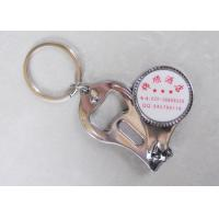 China Promotional Nail Clipper Bottle Opener Keychain With Custom Printed Logo wholesale