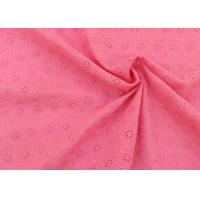 OEM Embroidery Eyelet Cotton Dying Lace Fabric With Floral Circle Pattern For Top