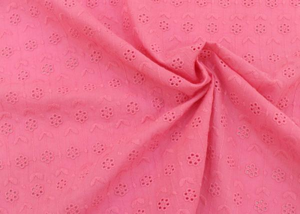 Quality Embroidery 100 Cotton Lace Fabric With Circle Pattern , Cotton Lace Dress Fabric for sale