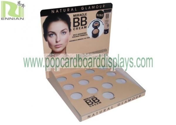 Quality Recycled Color Full Printing Cardboard Counter Displays For Cosmetic Display Stand for sale