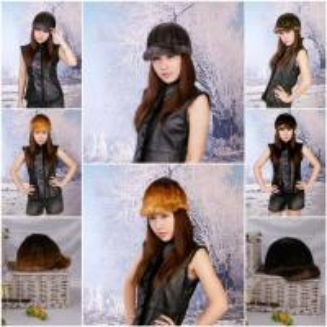 China Women's Fur Hats Mink Fur Hats Mink Fur Cap Mink Fur Headgear Fur Chapeau 3 Colors Sable Fur Hats wholesale