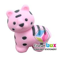 China SEA044 Tiger shaped animal TPR fancy eraser, animal shaped erasers with REACH, EN71 wholesale