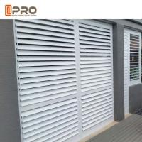 China Sound Insulation Customized Fixed Aluminium Louver Window / Aluminium Plantation Shutters on sale