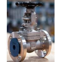 China Forged Flanged Ends Globe Valve Forced Small Friction With Back Seal Design on sale