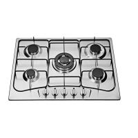 Auto Igntion 90cm 5 Burner Gas Hob , Built In 5 Ring Stainless Steel Gas Burner