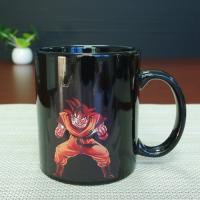 Best Selling Dragon Ball Color Changing Mug Red Goku Magic Mug 300ml / 11OZ