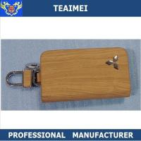 China Colorful Genuine Cow Leather Car Key Case Keychain Multiple Key Holder wholesale