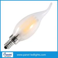 China Home Dimmable Filament Style Led Bulb , 4w Tail Led Filament Candle Bulb Glass wholesale