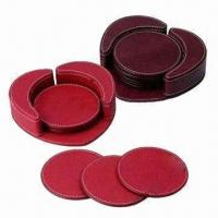 China Leather Coasters, Cork Coasters Also Available wholesale