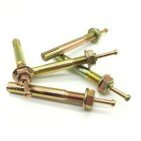 China Zinc Plated Expansion Anchor Bolt / Hit Anchor with Flange Nut wholesale