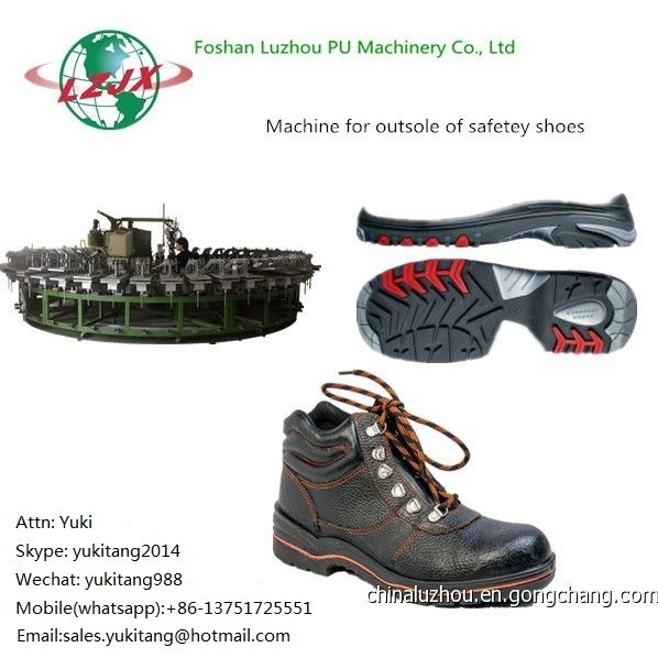 Quality PU Machinery Factory Foshan Luzhou Sole Safety Shoes Injection Machine for sale