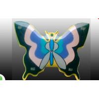 China different colors butterfly pin LED light flashing badge butterfly clasp pins badges  wholesale