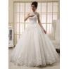 China White Heart Shaped Ladies Halter Neck Wedding Dresses Princess Wedding Gowns wholesale
