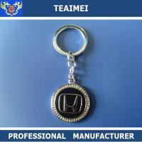 China Screen Priting Personalized Matal Car Keychains For Cars Decorations wholesale