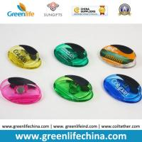 China Plastic Magnet Clip Transparent Colors Oval Shape Office Stationery on sale