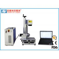 China Metal Tube and Steel Cup Fiber Laser Marking Machine with 80mm Rotary Device wholesale