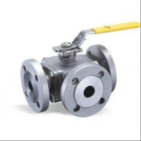 China Flange Type Hand Manual 3 Three Way Stainless Steel Ball Valve L Port T Port wholesale