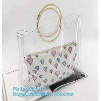 China pvc candy bag cross body candy shoulder bag with chain, Clear PVC Beautician Fashion shoulder bag for women and girls, T wholesale