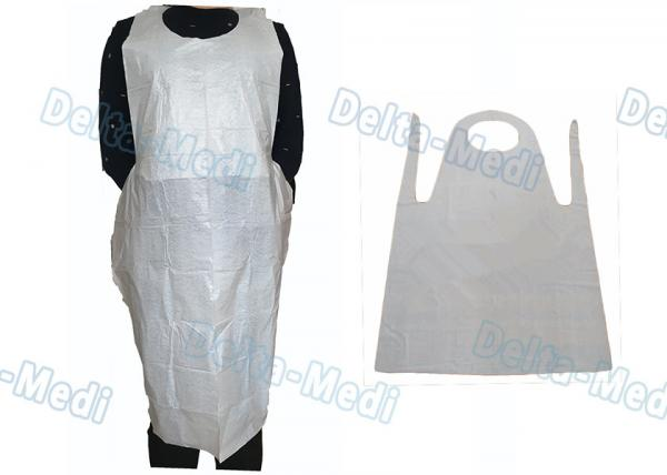 Quality Adult Medical Plastic Products Waterproof LDPE / HDPE Apron For Food Industry for sale