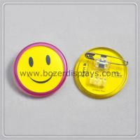 China Smile ID Badge Holder With Clip on sale