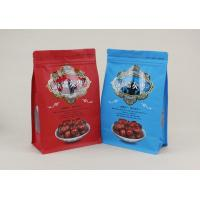 China Square Bottom 500g Food Grade Quad Seal Bags For Red Dates Walnuts wholesale