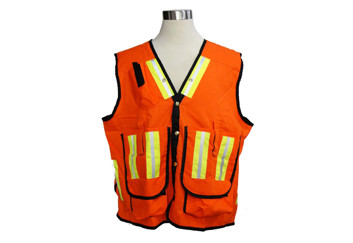 Quality safety vest  SV-01 3M reflective material cotton/poliestere fiber for sale