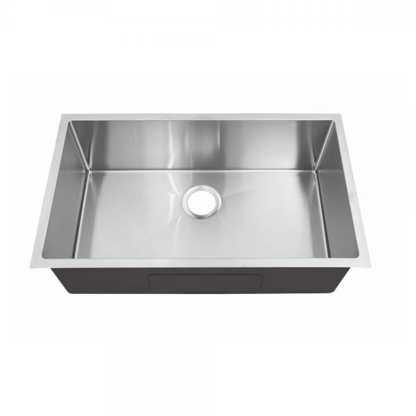 Quality Large Stainless Steel Undermount One Bowl Kitchen Sinks For Granite Countertop for sale